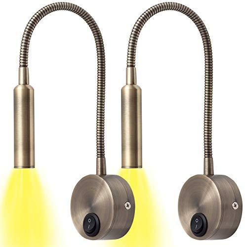 LÁMPARA DE PARDES, APLIQUE LED DORMITORIO, APLIQUE LECTURA LED, ARTICULABLE, BLANCO, NEGRO, CROMO, DORADO (DORADO)