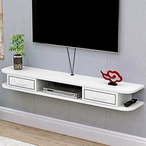 Muebles para el hogar Estante flotante Soporte para centro de entretenimiento Soporte para TV Estantes montados en la pared Rack Consola multimedia Estante para componentes Soporte para TV Estante