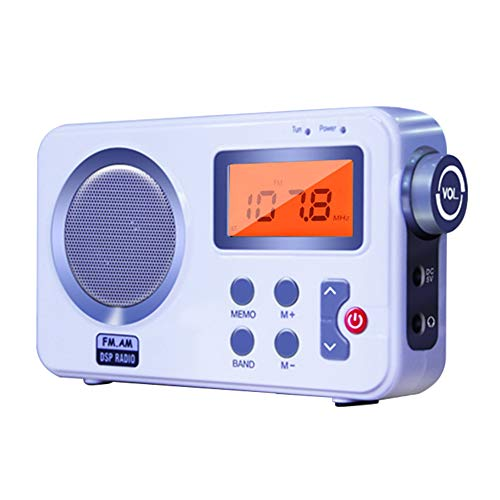 SHANSHAN Portable Digital Radio, DAB/DAB +/FM/AM/RDS Function Radio with 20 Preset Stations, 2.4inch HD LCD Display, Portable AM FM Radio with 3.5mm Headphone Input