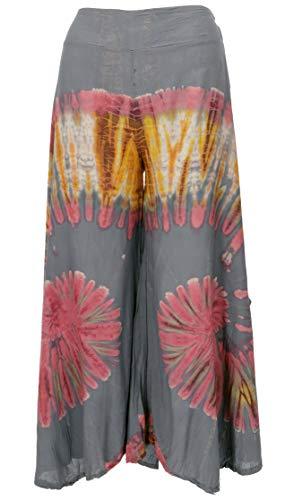 GURU SHOP Falda de pantalón batik para mujer, color marrón, sintética, talla: 38, pantalones largos alternativos gris 40