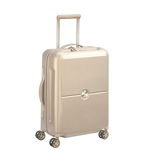 Delsey Paris - Turenne - Valise Trolley Cabine Slim - 4 Doubles Roues, 55 cm - Or