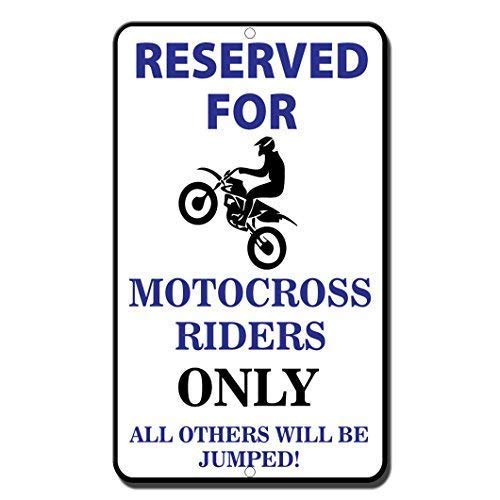 TammieLove - Señal de Metal para Motocross Riders Only All Others Will Be Jumped (20 x 30 cm)
