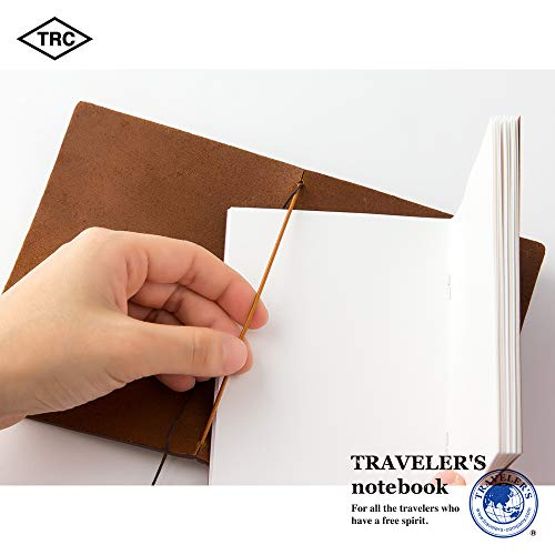 Midori Traveler's Notebook - Starter Kit, Camel (Passport Size) Photo #4