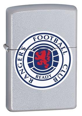 Mechero Zippo, Glasgow Rangers FC oficial, cromado satinado, libre personaliseitonline, cumpleaños, regalo...