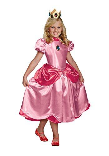 Nintendo Super Mario Brothers Princess Peach Deluxe Girls Costume, Large/10-12