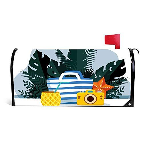 wendana ananas drank met portemonnee en tropische brievenbus Cover Magnetische Vinyl Thuis Tuin Decor mailbox Wrap Post Letter Box Cover 18