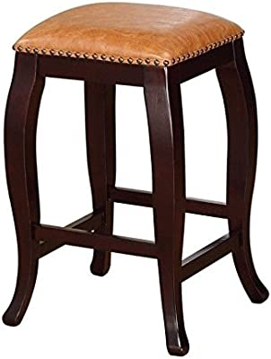 Amazon Com Linon San Francisco Square Top Counter Stool