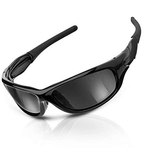 CAMTOA Occhiali da sole sportivi polarizzati, con protezione UV400 al 100% e montatura infrangibile TR90, moda, leggero, confortevole - Golf Pesca Corse Ciclismo Correre e Altri sport all'aperto