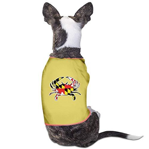Florasun - Gilet per cani con bandiera del Maryland, alla moda, per cani e gatti di piccola taglia, colore: giallo