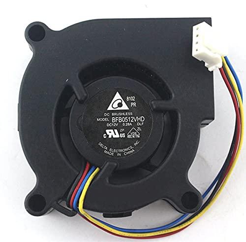 Delta BFB0512VHD Server Projector Fan DC12V 0.28A 50x50x20mm 4-wire centrifugal turbo fan