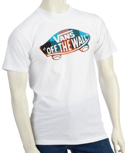 Vans Herren T-Shirt Off The Wall Squared, White, L