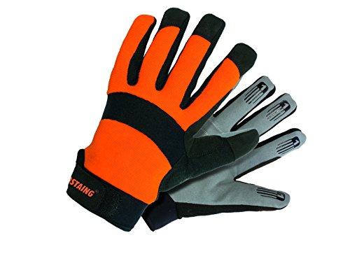 Rostaing OPTIPRO/IT10 OPTIPRO Gant manutention, absorbe choc en paume. Confort, Orange/Noir/Gris, 10