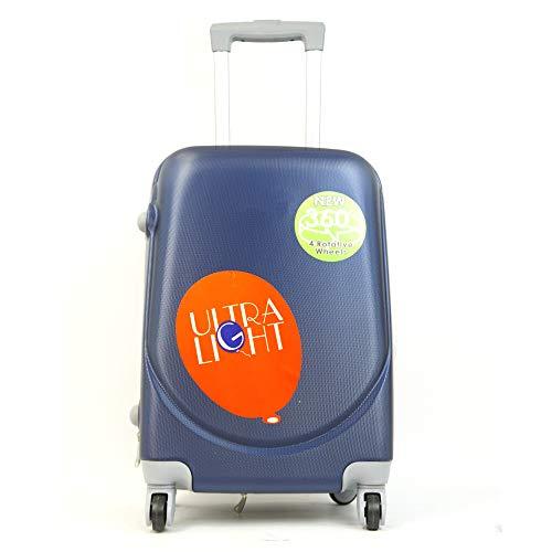 Maleta de Cabina 52x35x20cm 30L Equipaje de Mano Trolley Viaje con 4 Ruedas rotación 360 Grado Ligero y Flexible (Azul)