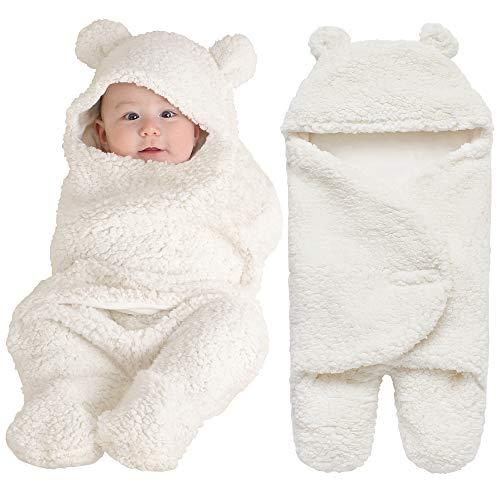 LifeTree Baby Pucksack Neugeboren - Baby Decke Pucktuch Swaddle Decke für Säuglinge Babies Neugeborene Unisex Baby 0-3 Monate