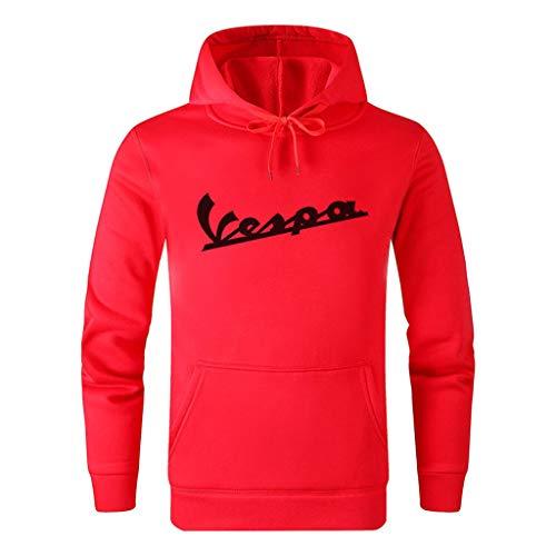 ACEGI Vespa Logo patrón Sport and Leisure Chaqueta suéter con Capucha algodón Color sólido Estilo