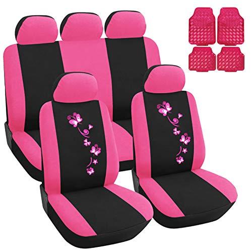 eSituro Universal Sitzbezüge für Auto Schonbezug mit 4 teillige Fußmatten SCMS0116-X