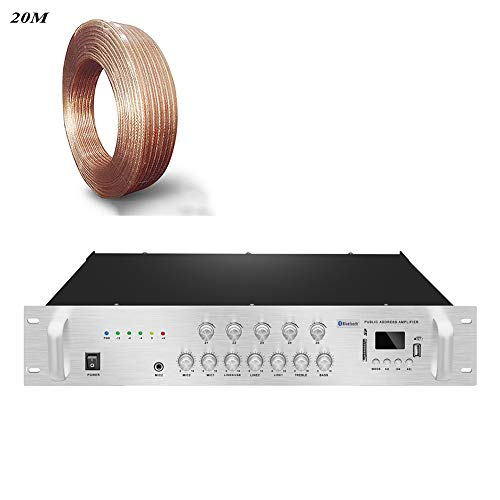 New MG.QING Stereo Amplifier Digital Audio Broadcast Speaker Public Broadcast for Home Theater, Rest...