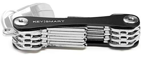 KeySmart - Llavero y organizador de llaves compacto (hasta 22 llaves, Negra)
