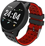 ZHXDXF Fitness Tracker Sports Smart Watch Men and Women Blood Pressure Waterproof Activity Fitness Tracker Heart Rate Monitor Smart Watch Bluetooth Touch Screen Watch GPS for Androi