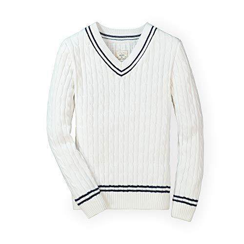Hope & Henry Men's Long Sleeve V-Neck Cricket Sweater