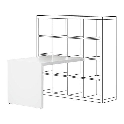 IKEA KALLAX Schreibtisch in weiß; (115x76cm)