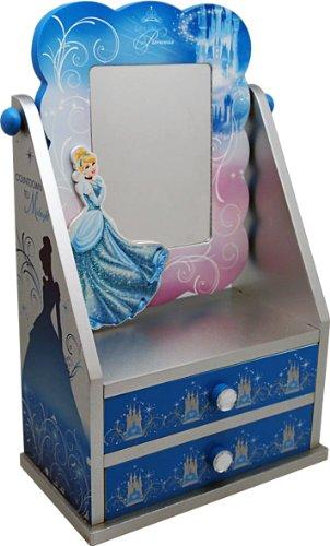 Disney 90001 - Cinderella Portatrucchi con Specchio in Legno, in Confezione Regalo, 19.5x11x30 cm