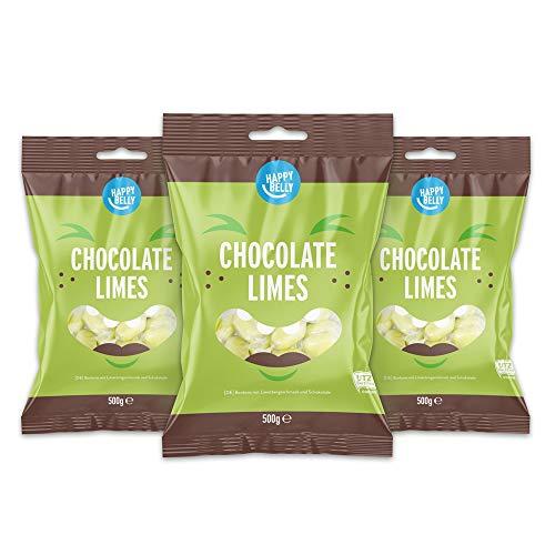 Amazon-Marke: Happy Belly - Bonbons mit Limettengeschmack und Schokolade, 3x500g