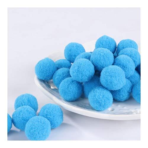 JIAHUI Pompones suaves de mezcla de pompones de felpa esponjosa para manualidades con pompones y bolas para decoración del hogar (color: 16, tamaño: 30 mm, 10 unidades)