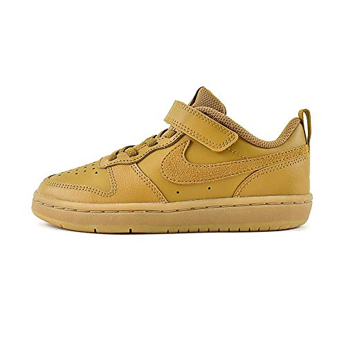 Nike Jungen Court Borough Low 2 (PSV) Traillaufschuhe, Mehrfarbig (Wheat/Wheat-Gum Light Brown 700), 28 EU