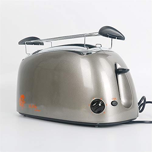 Broodrooster, 2 broodrooster, broodbakmachine, automatisch, voor ontbijt, multifunctioneel, 6 snelheidsniveaus, broodrooster met twee koppen.