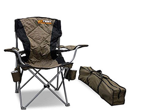 OzTent Goanna Camping Outdoor Chair with Lumbar Support.