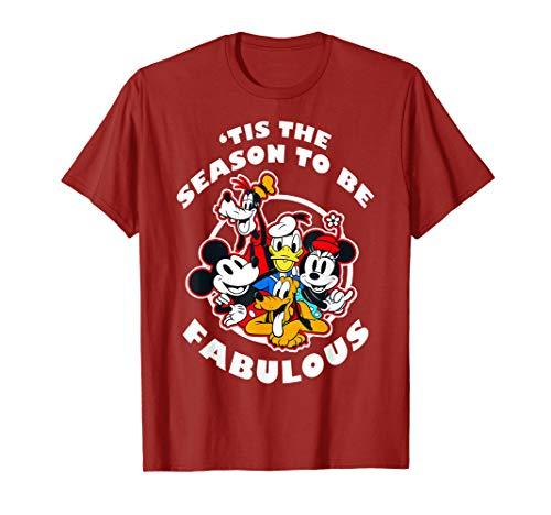 Disney Mickey And Friends Christmas Group 'Tis The Season T-Shirt