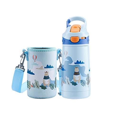 Tetera 350 ml Botella de agua pequeña para niños Acero inoxidable Deportes...