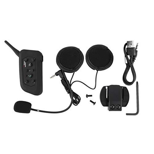 3.5mm BT Bluetooth Casco de la Motocicleta Interphone Headset Headphone 6 Riders 1200M Práctica Inter Communicate Interphone