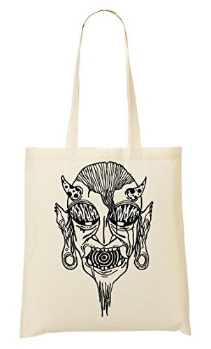 C+P Amazing Psychedelic Devil Painting draagtas boodschappentas