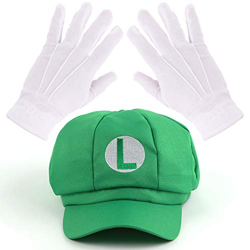 Mosqueda Green Hat Gloves Accessory Kit Halloween Cosplay Party Costume