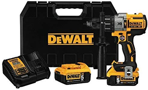 DEWALT 20V MAX XR Hammer Drill Kit, Brushless, 3-Speed Drill Kit (DCD996P2) (Drill Kit)