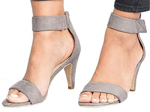 High Heel Sandals Dress Shoes Women Leopard Print Ankle...