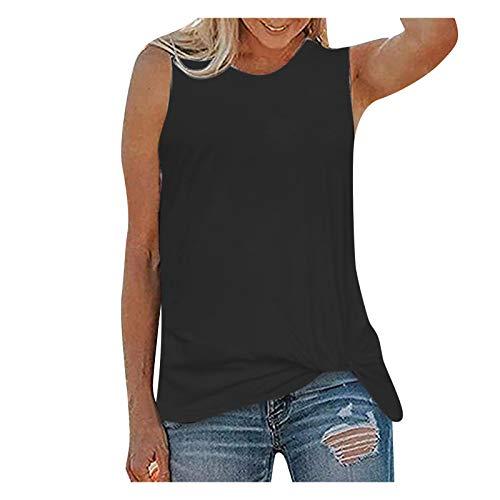 YANFANG Chaleco para Mujer Camisa Estampada con Cuello Redondo Camisa Casual Camisetas sin Mangas Sin Mangas,Camisa Suelta Mujer Casual Verano Invierno Primavera Shirts Camisa