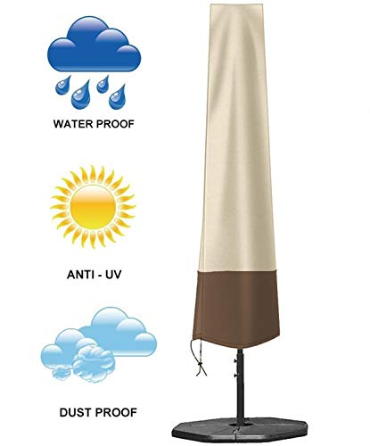 Umbrella Covers, Patio Waterproof Market Parasol Covers with Zipper for 7ft to 11ft Outdoor...