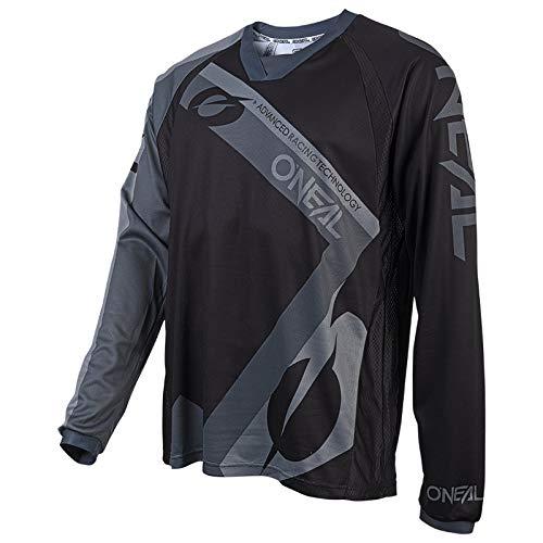 O\'NEAL | Motocross-Shirt | Motorrad Enduro | Atmungsaktives Material, Flexibler und belüfteter Rundkragen, lockere Passform | Element FR Jersey HYBRID | Schwarz | Größe XL