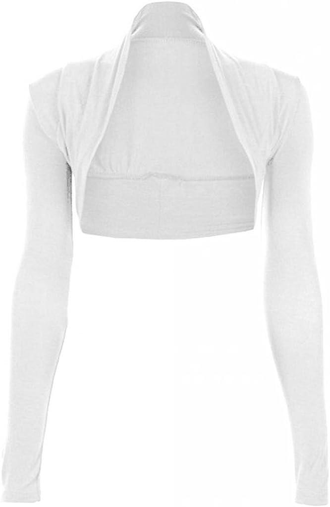 Limited time sale Hot Hanger Overseas parallel import regular item womens Long Sleeves Plain Bolero Shrug