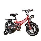 WYYY 12'14' 16'18' Bicicleta para Niños para Niñas Y Niños De 3 A 9 Años De Edad (Negro Y Rosa Y Rojo) Bicicleta para Niños con Ruedas De Entrenamiento(Size:16Inch,Color:Rojo)