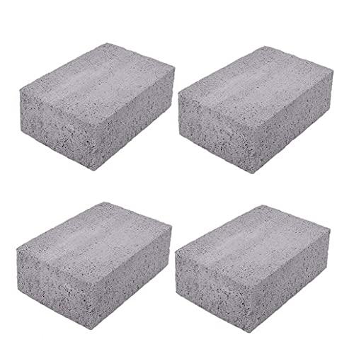 Piedras pómez de la plancha, ladrillos desincrustantes de la parrilla, piedras pómez para barbacoa, parte superior plana, 4 unidades