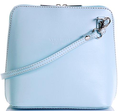 Primo Sacchi Damen Italienisches Leder Handgemacht Klein/Mikro über Leichensack oder Umhängetasche Handtasche Baby blau