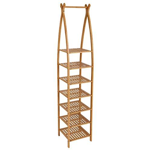 Bambou Meuble Etagère 7 niveaux en de très belle qualité. Idéal pour la salle de bain, le a une haute résistance à l'humidité
