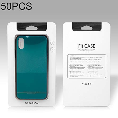 Verpakking-Packaging-Seal tassen-Vacuümzak 50 PCS Hoge kwaliteit mobiele telefoon Case PVC+Lijm Pakket Doos voor iPhone(5,5 inch) Grootte: 210x120 mm Kleur: wit