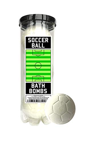Soccer Ball Bath Bombs - 3 pack - Soccer Gifts - Luxury Scented Bath Bomb Fizzies - Great Gift for Soccer players, Teammates, Opponents, Soccer Clubs and Leagues, Birthdays, Men, Boys, Women, Girls, Best Gifts For Soccer Players