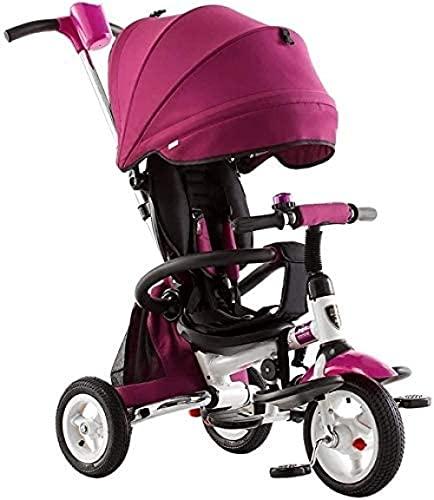 Triciclo para niños triciclo de bebé triciclo para niños s Triciclo plegable Cochecito de dirección para niños de 1 a 5 años de edad Cochecito de triciclo Silla de empuje infantil (color # 2 )-# 2