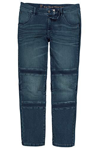 JP 1880 Herren große Größen Jeans, Elastik-Einsätze, Tapered Loose Fit, bis Gr. 70/35 Blue Stone 62 724679 91-62